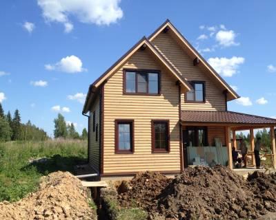 Строительство дома из СИП панелей по проекту РАДУГА (Гатчинский р-н Лен. обл.)