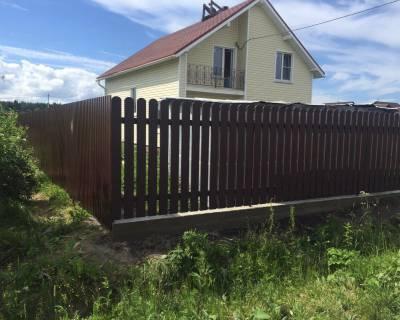 Строительство забора в Гатчинском районе