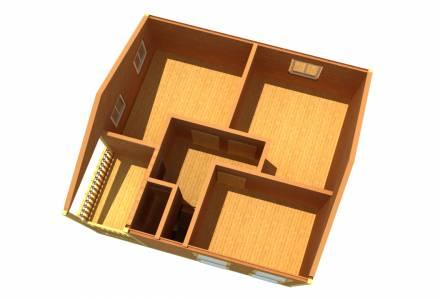 Каркасный дом 8х8