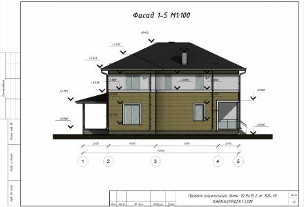 Проект каркасного дома 10.9 х 15.2
