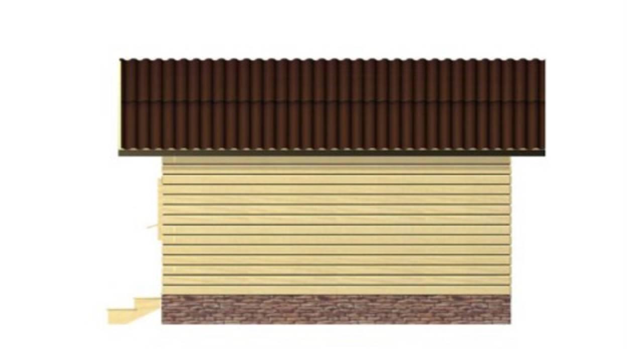 Проект Бани из СИП панелей 4х4