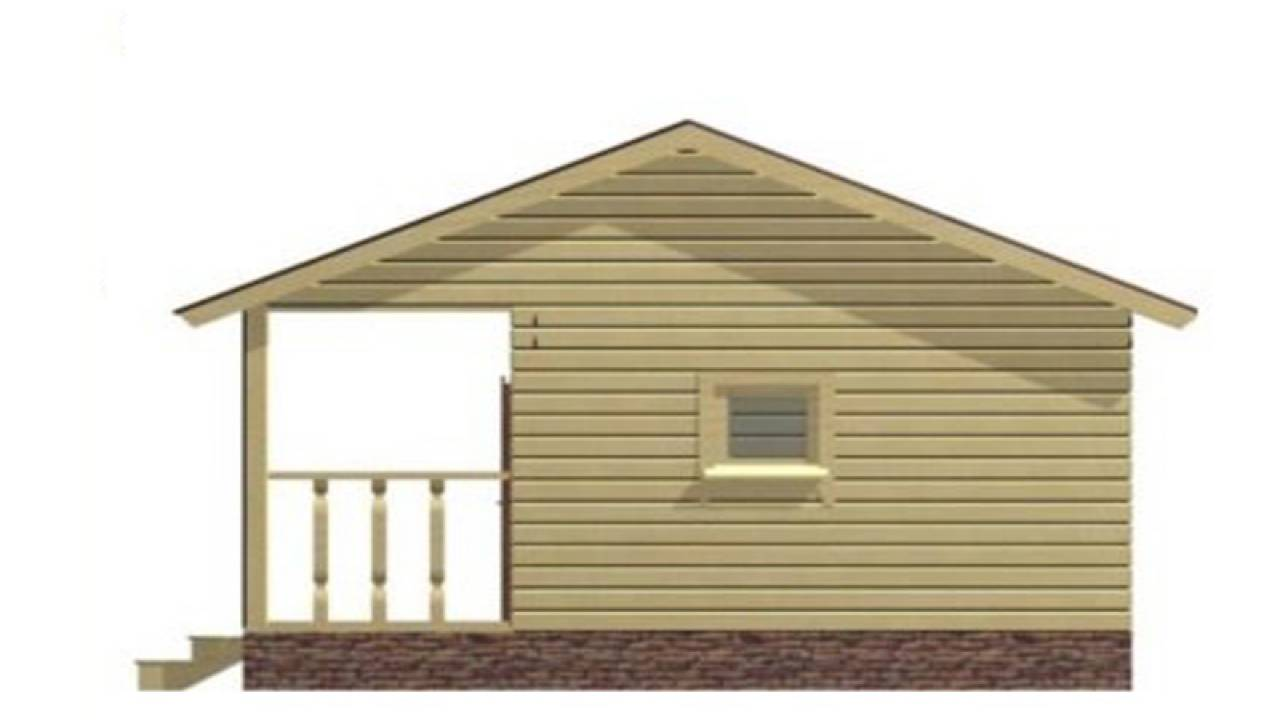 Проект Бани из СИП панелей 4х5 с террасой