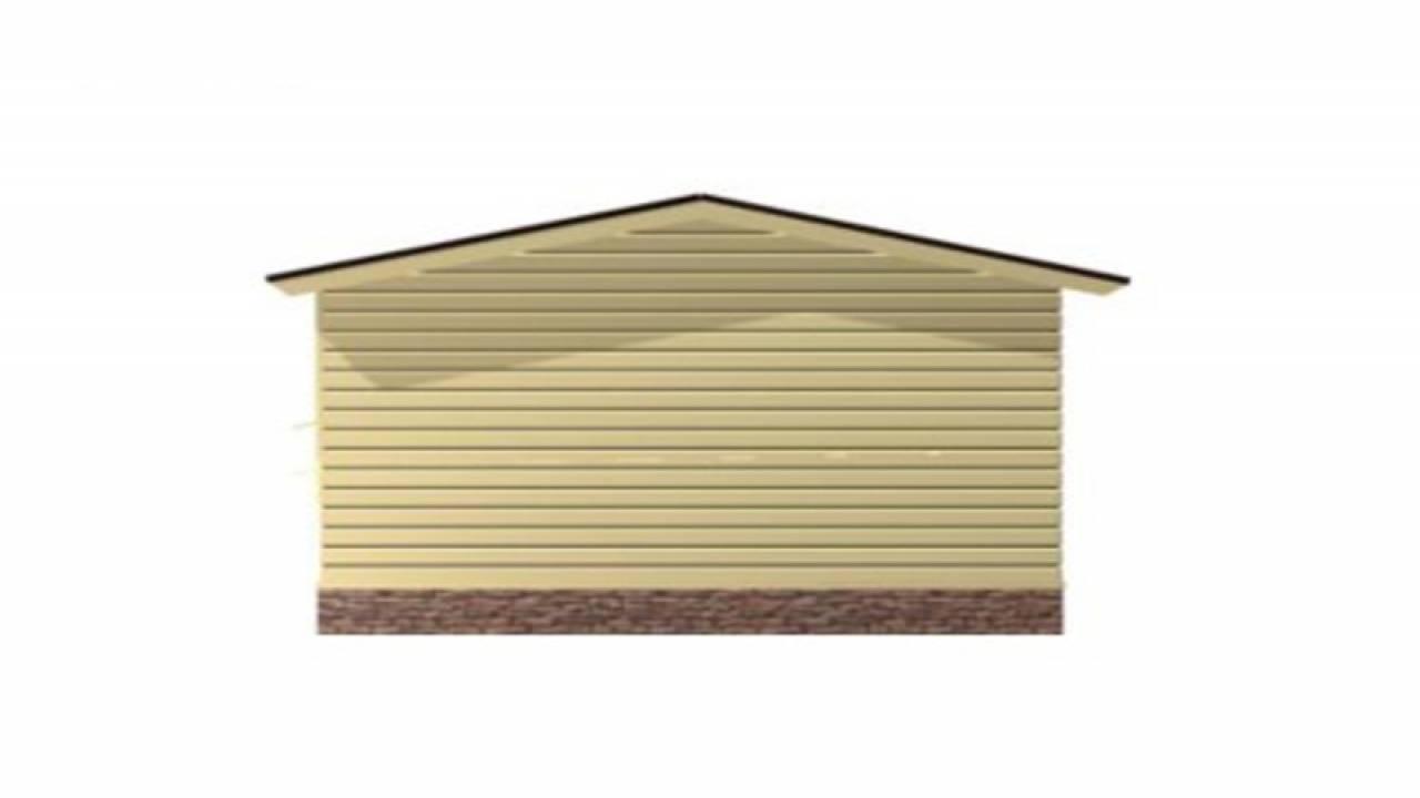 Проект Бани из СИП панелей 4х6 с террасой