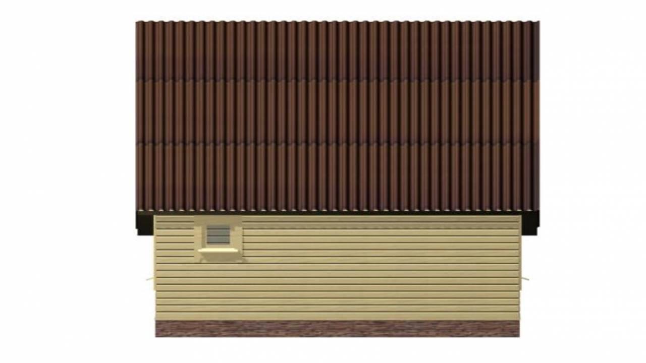 Проект БАНИ из СИП панелей 6х8 с террасой