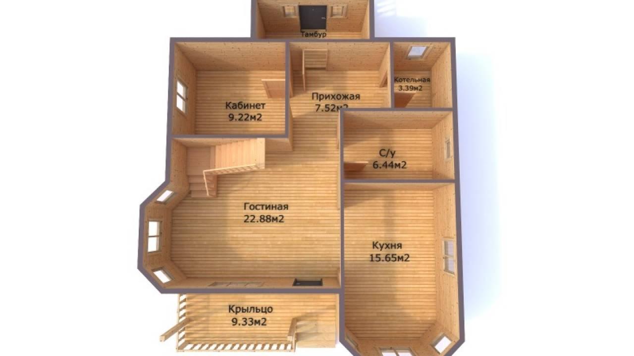 Проект каркасного дома 8,5х12,1