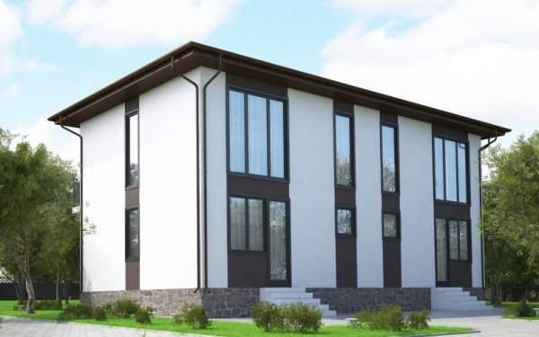 Проект СИП дома на две семьи ДУПЛЕКС