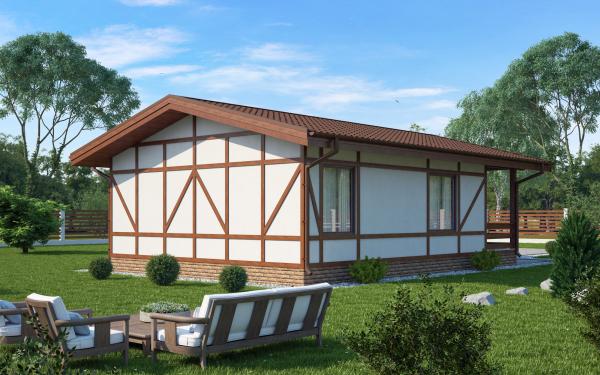 Проект дома из СИП панелей ХИТТОЛОВО