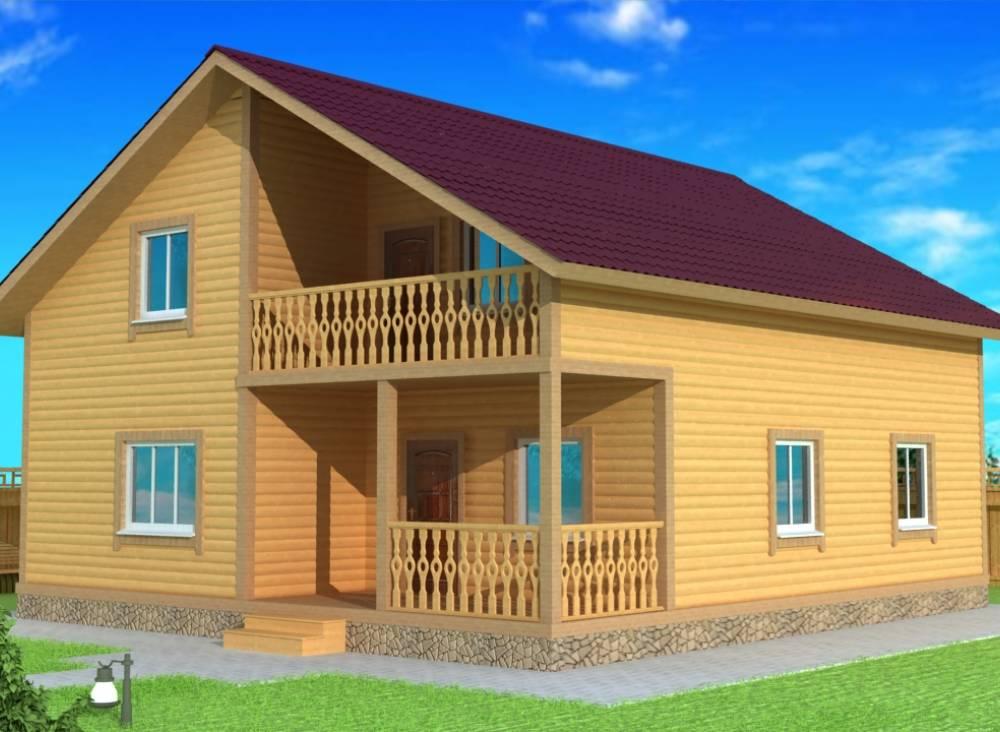 Каркасный дом 9х12