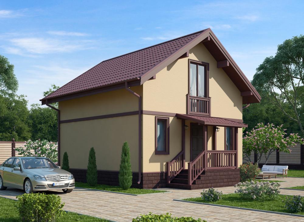 Проект дома из СИП панелей КЛИО