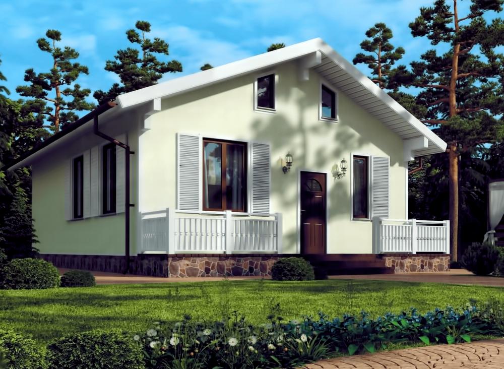 Проект дома из СИП панелей РЕЙН