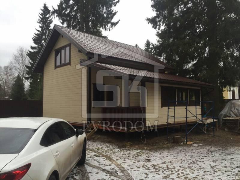 Строительство дома из СИП панелей по индивидуальному проекту в Ленинградской области п. Вырица