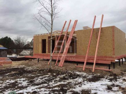 Строительство дома и бани из СИП панелей в Усть -Ижоре Ленинградской области.