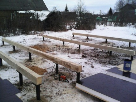 Строительство дома из СИП панелей по индивидуальному проекту в г. Волхов Ленинградской области.