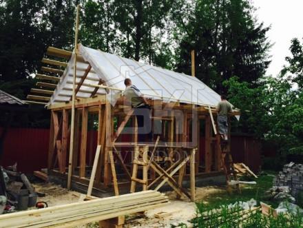Строительство каркасной бани в п.Вырица по индивидуальному проекту