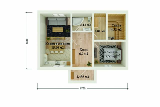 Проект дома из СИП панелей ЛАХТА